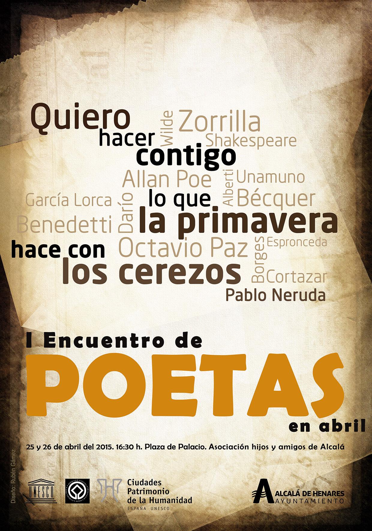 Cartel I Encuentro de poetas en abril