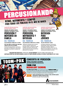 Cartel Percusionando-carrusel