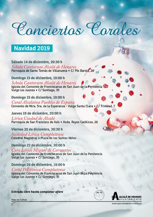 Conciertos Corales de Navidad 2019