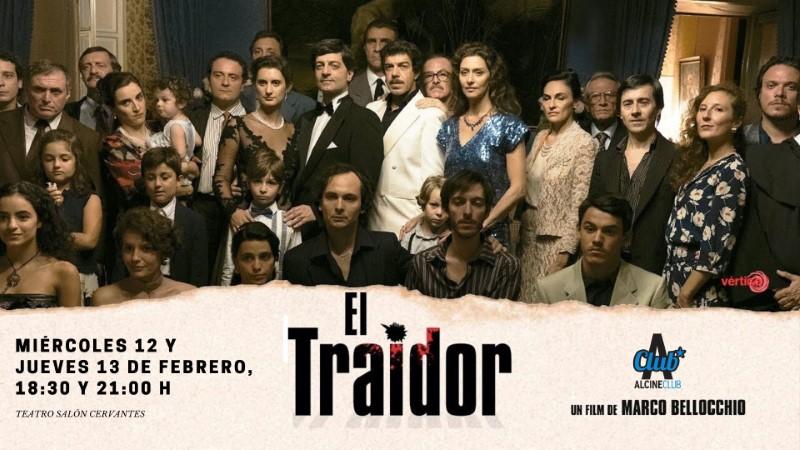 """""""El traidor"""", de Marco Bellocchio. Miércoles 12 y jueves 13 de febrero, 18:30 y 21:00 h. Teatro Salón Cervantes"""