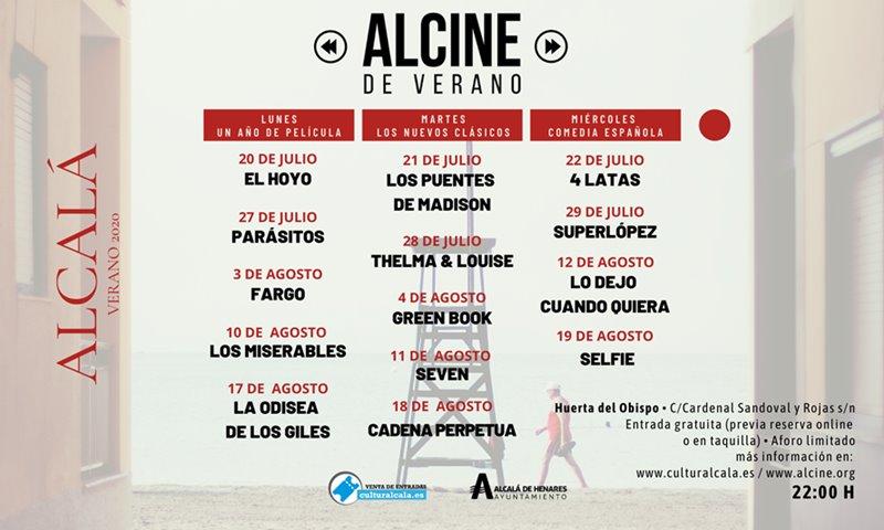 PROGRAMACIÓN ALCINE DE VERANO 2020