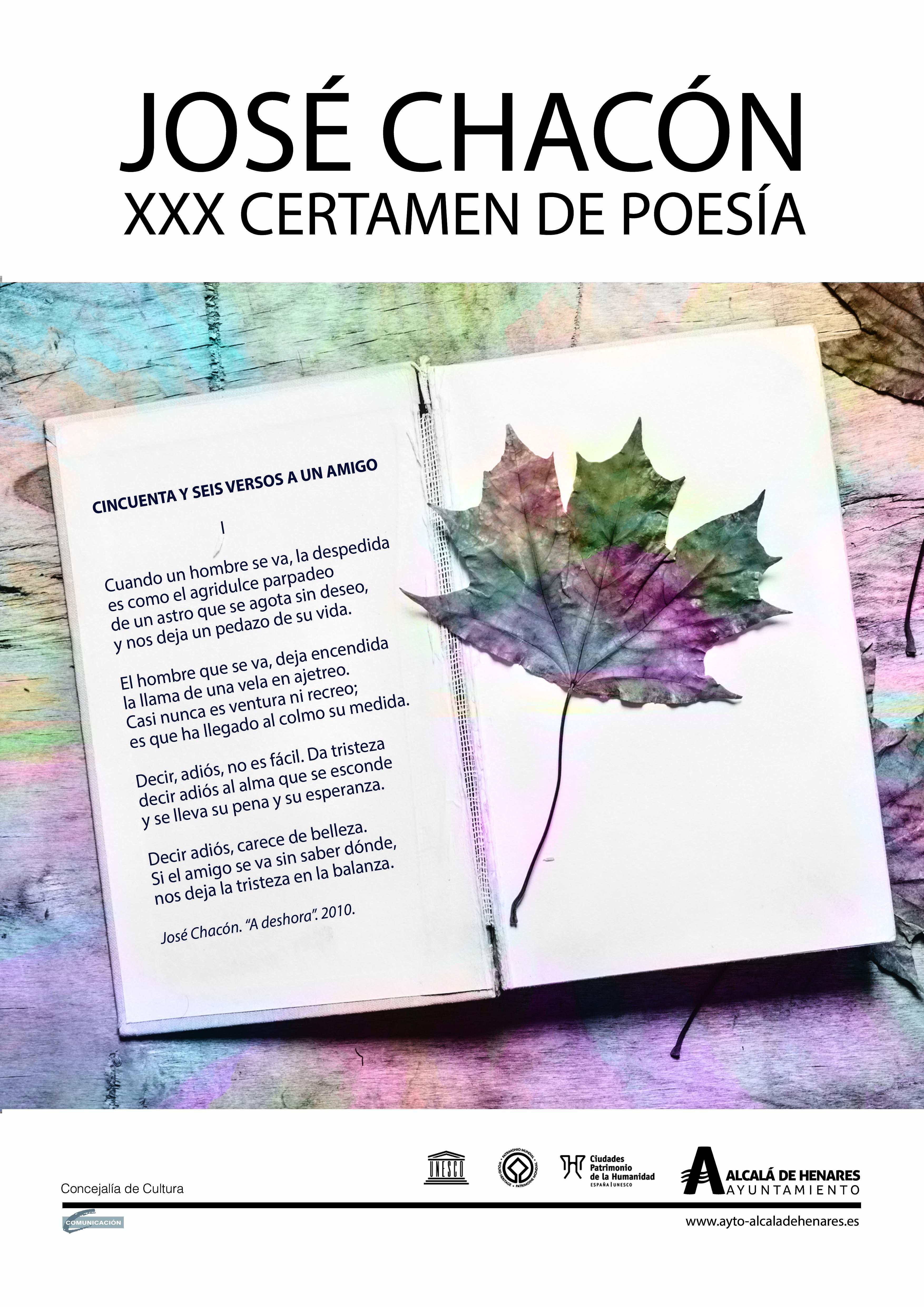 XXX Certámen de Poesía José Chacón